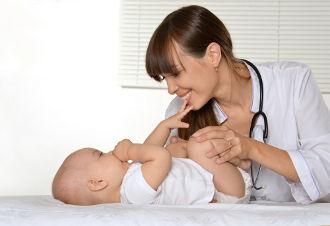 dottoressa e bambino